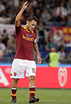 Calcio, Serie A: Roma vs Sampdoria. Roma, stadio Olimpico, 26 settembre 2012..AS Roma forward Francesco Totti reacts after missing a scoring chance during the Italian Serie A football match between AS Roma and Sampdoria at Rome's Olympic stadium, 26 September 2012..UPDATE IMAGES PRESS/Riccardo De Luca