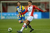 EMMEN - Voetbal, FC Emmen - FC Oss, Jens Vesting, Jupiler League, seizoen 2017-2018, 27-10-2017,  FC Emmen speler Nick Bakker