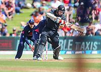 New Zealand's Tom Latham.  Black Caps v England, second international cricket ODI, Bay Oval, Tauranga, New Zealand. Wednesday, 28 February, 2018. Copyright photo: John Cowpland / www.photosport.nz