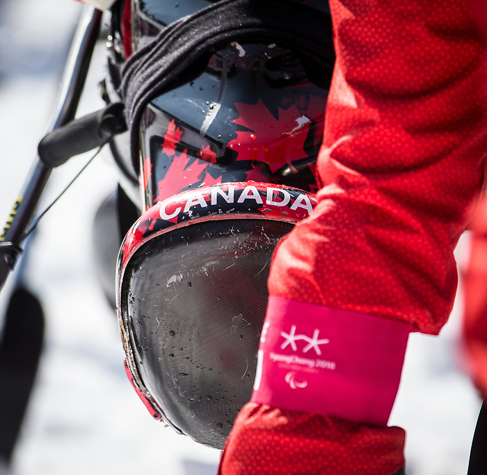 PyeongChang 14/3/2018 - Alex Cairns at the start of the giant slalom at the Jeongseon Alpine Centre during the 2018 Winter Paralympic Games in Pyeongchang, Korea. Photo: Dave Holland/Canadian Paralympic Committee