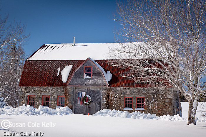 Stone barn in Bar Harbor, ME