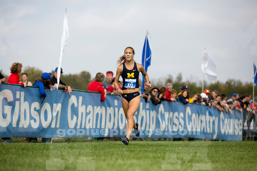 Michigan women's cross country runner Sydney Badger (777) competes at the Indiana State Pre-National Cross Country Invitational on Saturday, Oct. 15, 2016, in Terre Haute, Indiana. (Photo by James Brosher)