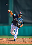 11 March 2016: Atlanta Braves pitcher Kanekoa Texeira on the mound during a Spring Training pre-season game against the Philadelphia Phillies at Champion Stadium in the ESPN Wide World of Sports Complex in Kissimmee, Florida. The Phillies defeated the Braves 9-2 in Grapefruit League play. Mandatory Credit: Ed Wolfstein Photo *** RAW (NEF) Image File Available ***