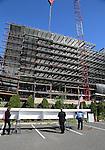 Jersey Shore University Medical Center Hope Tower Beam Raising Ceremony on Thursday September 15, 2016.