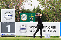Matt Wallace (ENG) in action during the final round of the Volvo China Open played at Topwin Golf and Country Club, Huairou, Beijing, China 26-29 April 2018.<br /> 29/04/2018.<br /> Picture: Golffile | Phil Inglis<br /> <br /> <br /> All photo usage must carry mandatory copyright credit (&copy; Golffile | Phil Inglis)