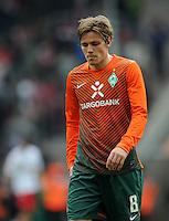 FUSSBALL   1. BUNDESLIGA   SAISON 2011/2012   29. SPIELTAG 1. FC Koeln - SV Werder Bremen                           07.04.2012 Clemens Fritz (SV Werder Bremen) ist nach dem Abpfiff enttaeuscht