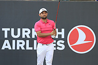 Alexander Levy (FRA) on the 17th tee during Sunday's Final Round of the 2018 Turkish Airlines Open hosted by Regnum Carya Golf &amp; Spa Resort, Antalya, Turkey. 4th November 2018.<br /> Picture: Eoin Clarke | Golffile<br /> <br /> <br /> All photos usage must carry mandatory copyright credit (&copy; Golffile | Eoin Clarke)