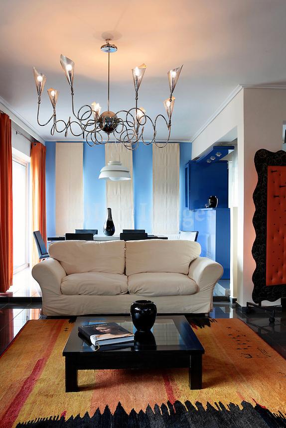 modern colorful living room