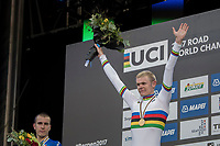 Julius Johansen (DEN) is the new Junior Men Road World Champion<br /> <br /> Men Junior Road Race<br /> <br /> UCI 2017 Road World Championships - Bergen/Norway