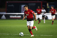 Zac Dearnley of Manchester United U23's in action during Fulham Under-23 vs Manchester United Under-23, Premier League 2 Football at Motspur Park on 10th August 2018