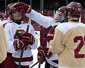 Michael Kim (BC - 4), Luke McInnis (BC - 3) - The Boston College Eagles practiced at Fenway on Friday, January 6, 2017, in Boston, Massachusetts.