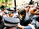Pakistani cricketers arrive at the Pakistan High Commission in London today.., Mohammed Amir, and Mohammed Asif....Picture by Gavin Rodgers/ Pixel 07917221968