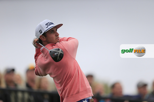 J.T. Poston (USA) on the 18th tee during the final round of the Waste Management Phoenix Open, TPC Scottsdale, Scottsdale, Arisona, USA. 03/02/2019.<br /> Picture Fran Caffrey / Golffile.ie<br /> <br /> All photo usage must carry mandatory copyright credit (&copy; Golffile | Fran Caffrey)