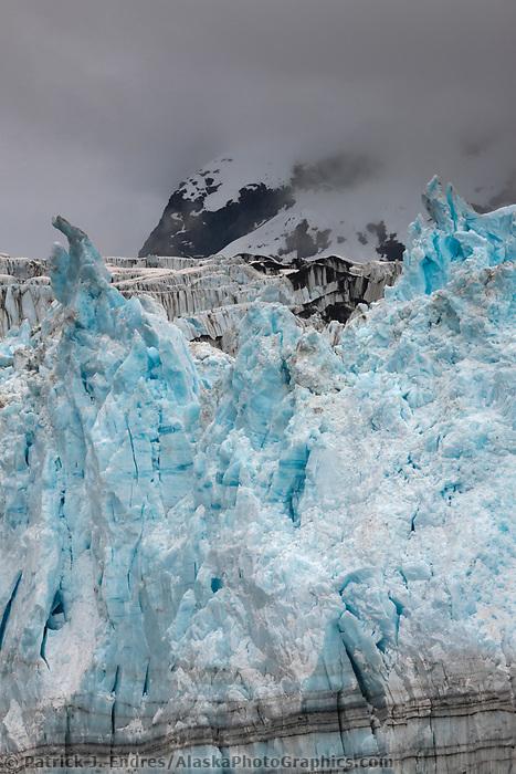 Tidewater face of surprise glacier in Harriman Fjord, Prince William Sound, southcentral, Alaska.