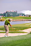 27 August 2009: Retief Goosen of South Africa during the first round of The Barclays PGA Playoffs at Liberty National Golf Course in Jersey City, New Jersey.