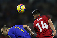Carson, CA - Sunday January 28, 2018: Darko Todorović, Rubio Rubin during an international friendly between the men's national teams of the United States (USA) and Bosnia and Herzegovina (BIH) at the StubHub Center.