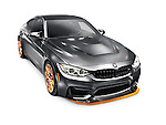2016 BMW M4 GTS high-performance car matte gray metallic sports car isolated on white background with clipping path