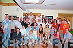 Sean and Sinead Enright, Lyreacrompane, held a wedding Party at ORiadas in Ballymacelligott on Saturday night. Sean and Sinead seen here fourth and fifth in the second row, with family and friends..