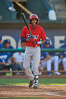 Brandon White (9) of the Orem Owlz at bat against the Ogden Raptors at Lindquist Field on September 3, 2019 in Ogden, Utah. The Raptors defeated the Owlz 12-0. (Stephen Smith/Four Seam Images)