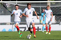 Harvey Barnes of Leicester City and England races upfield during England Under-18 vs Ivory Coast Under-20, Toulon Tournament Final Football at Stade de Lattre-de-Tassigny on 10th June 2017