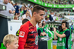 31.08.2019, Volkswagen Arena, Wolfsburg, GER, 1.FBL, VfL Wolfsburg vs SC Paderborn<br /> <br /> DFL REGULATIONS PROHIBIT ANY USE OF PHOTOGRAPHS AS IMAGE SEQUENCES AND/OR QUASI-VIDEO.<br /> <br /> im Bild / picture shows<br /> Koen Casteels (VfL Wolfsburg #01) beim Einlaufen der Mannschaften, <br /> <br /> Foto © nordphoto / Ewert