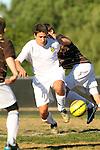 Palos Verdes, CA 02/09/12 - Rafi Cutri (Peninsula #20) in action during the West vs Peninsula Bay League boys varsity soccer game.