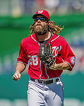 7 September 2014: Washington Nationals outfielder Jayson Werth trots back to the dugout during a game against the Philadelphia Phillies at Nationals Park in Washington, DC. The Nationals defeated the Phillies 3-2 to salvage the final game of their 3-game series. Mandatory Credit: Ed Wolfstein Photo *** RAW (NEF) Image File Available ***
