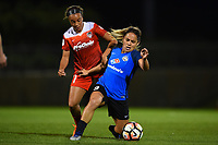 Boyds, MD - Saturday May 20, 2017: Mallory Pugh, Lo'eau Labonta during a regular season National Women's Soccer League (NWSL) match between the Washington Spirit and FC Kansas City at Maureen Hendricks Field, Maryland SoccerPlex.