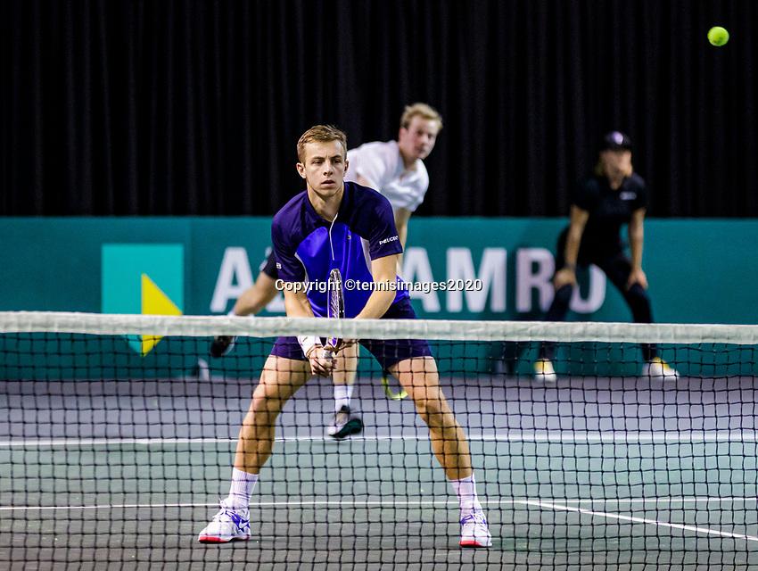 Rotterdam, The Netherlands, 9 Februari 2020, ABNAMRO World Tennis Tournament, Ahoy, Qualyfying round doubles: Griekspoor (NED) / van de Zandschulp (NED)<br /> Photo: www.tennisimages.com