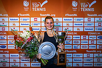 Alphen aan den Rijn, Netherlands, December 22, 2019, TV Nieuwe Sloot,  NK Tennis, Woman's single winner Querine Lemoine with the trophy<br /> Photo: www.tennisimages.com/Henk Koster