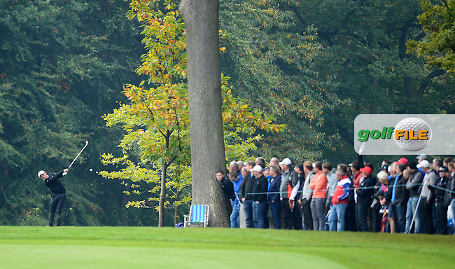 Matthew Fitzpatrick of England in action during Round 4 of the 2015 British Masters at the Marquess Course, Woburn, in Bedfordshire, England on 11/10/15.<br /> Picture: Richard Martin-Roberts | Golffile