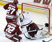 Justin Braun (UMass - 27), Michael Marcou (UMass - 22), John Muse (BC - 1) - The Boston College Eagles defeated the University of Massachusetts-Amherst Minutemen 5-2 on Saturday, March 13, 2010, at Conte Forum in Chestnut Hill, Massachusetts, to sweep their Hockey East Quarterfinals matchup.