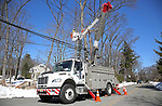 JCP&L Crews work on restoring power in Mountain Lakes, New Jersey