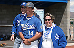 Western Nevada College's Connor Klein escorts his family onto the field for Sophomore Day festivities at John L. Harvey field, on Sunday, April 27, 2014, in Carson City, Nev.<br /> Photo by Cathleen Allison/Nevada Photo Source