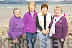 Nuala Spillane, Mary O'Sullivan, Barbara Dando and Nuala O'Connor at the Hospice walk on Rossbeigh beach on Friday morning..... ..........................