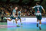Stockholm 2013-11-10 Handboll Elitserien Hammarby IF - Eskilstuna Guif :  <br /> Hammarby 6 Adam Johansson jublar efter att ha gjort m&aring;l<br /> (Foto: Kenta J&ouml;nsson) Nyckelord:  jubel gl&auml;dje lycka glad happy