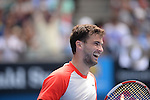 Grigor Dimitrov (BUL) defeats Roberto Bautista Agut (ESP) 6-3, 3-6, 6-2, 6-4 at the Australian Open in Melbourne, Australia on January 20 2014