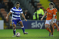 Reading's Andy Rinomhota under pressure from Blackpool's Matty Virtue<br /> <br /> Photographer Kevin Barnes/CameraSport<br /> <br /> Emirates FA Cup Third Round Replay - Blackpool v Reading - Tuesday 14th January 2020 - Bloomfield Road - Blackpool<br />  <br /> World Copyright © 2020 CameraSport. All rights reserved. 43 Linden Ave. Countesthorpe. Leicester. England. LE8 5PG - Tel: +44 (0) 116 277 4147 - admin@camerasport.com - www.camerasport.com