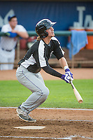 Brendan Rodgers (1) of the Grand Junction Rockies at bat against the Ogden Raptors in Pioneer League action at Lindquist Field on July 6, 2015 in Ogden, Utah. Ogden defeated Grand Junction 8-7. (Stephen Smith/Four Seam Images)