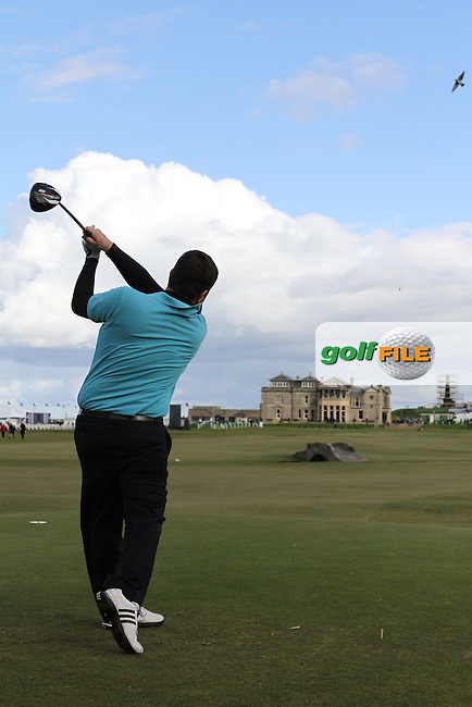 Kieran McManus (AM) on Wednesday's Practise Day at the Alfred Dunhill Links Championship, Old Course St. Andrews, Carnoustie and Kingsbarns, Scotland...(Photo Jenny Matthews/www.golffile.ie)