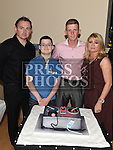 Gary Reilly celebrating his 21st birthday in The Thatch with parents Brendan and Annmarie and brother Mark. Photo:Colin Bell/pressphotos.ie