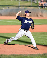 Brandon Rapoza / Helena Brewers pitching against the Ogden Raptors in a Pioneer League game in Ogden, UT - 08/10/2008..Photo by:  Bill Mitchell/Four Seam Images