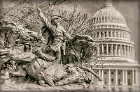 Calvary Charge Civil War Memorial United States Capitol Building Washington DC