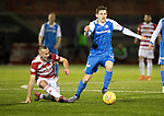 Hamilton Accies v St Johnstone&hellip;09.12.17&hellip;  New Douglas Park&hellip;  SPFL<br />Blair Alston gets away from Darian MacKinnon<br />Picture by Graeme Hart. <br />Copyright Perthshire Picture Agency<br />Tel: 01738 623350  Mobile: 07990 594431