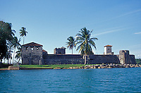 El Castillo de San Felipe, a restored 17th century fort on Lago de Izabel, Guatemala