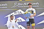 Dylan Groenewegen (NED) Team Lotto NL-Jumbo also wears the Young Riders White Jersey after Stage 2 The Ras Al Khaimah Stage of the Dubai Tour 2018 the Dubai Tour&rsquo;s 5th edition, running 190km from Skydive Dubai to Ras Al Khaimah, Dubai, United Arab Emirates. 7th February 2018.<br /> Picture: LaPresse/Fabio Ferrari | Cyclefile<br /> <br /> <br /> All photos usage must carry mandatory copyright credit (&copy; Cyclefile | LaPresse/Fabio Ferrari)