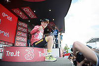 thumbs up for Steven Kruijswijk (NLD/LottoNL-Jumbo)<br /> <br /> stage 15 (iTT): Castelrotto-Alpe di Siusi 10.8km<br /> 99th Giro d'Italia 2016