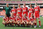 22 June 2008: Richmond's starters pose for a team photo. The Washington Freedom defeated the Richmond Kickers Destiny 5-0 at RFK Stadium in Washington, DC in a United Soccer Leagues W-League friendly.
