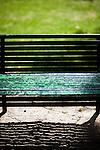 Detail of a park bench, Seville, Spain
