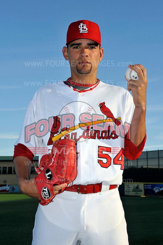 Mar 01, 2010; Jupiter, FL, USA; St. Louis Cardinals  pitcher Jamie Garcia (54) during  photoday at Roger Dean Stadium. Mandatory Credit: Tomasso De Rosa/ Four Seam Images